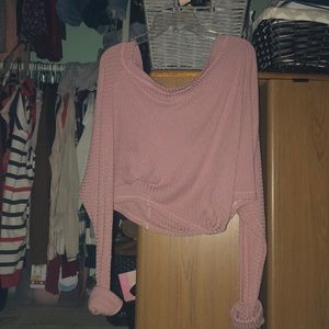 Slouchy Pink Knit Sweater